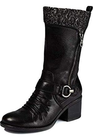 BareTraps Wylla Damen-Stiefel aus Kunstleder, mit Strickbesatz, wadenhoch