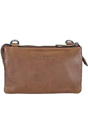 ARRIGO BELLO Geldbörsen Schultertasche Leder für Damen - Handtasche Klein Crossbody - Minitasche - Umhängetasche - Festivaltasche - 3x10x17