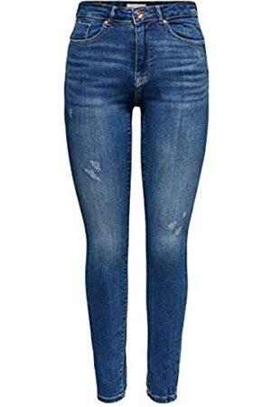 ONLY Female Skinny Fit Jeans ONLFPaola HW Ankle Destroy S34Medium Blue Denim