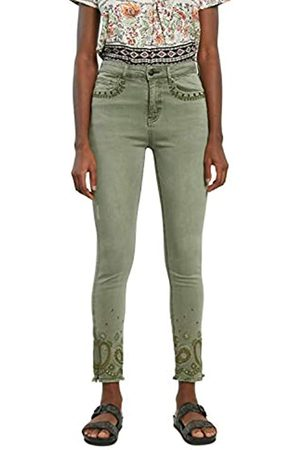 Desigual Womens Ankle Paisley Casual Pants