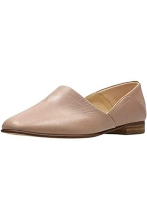 Clarks Womens Pure Tone Loafer, Nude Leather