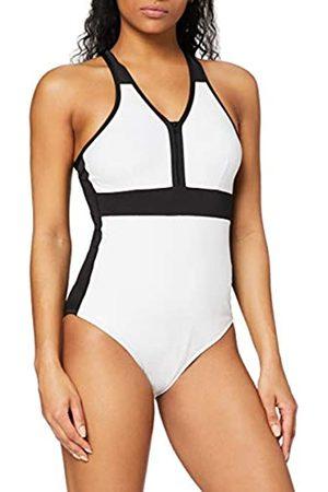 AURIQUE Amazon-Marke: Damen Sport-Monokini, Weiß (Weiß/ ), XL