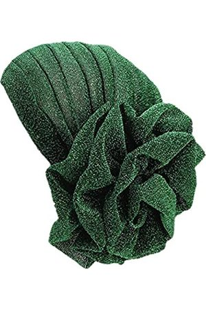 Fxhixiy Damen Turban, elastisch, Glitzer, große Blume, Chemo-Beanie, Haarausfall