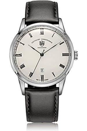 DUFA Unisex Analog Quarz Uhr mit Leder Armband DF-9008-02