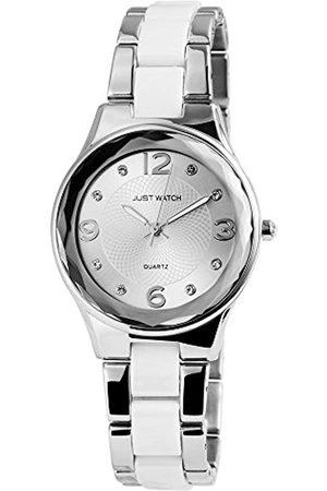 Just Watches Damen Analog Quarz Uhr mit Edelstahl Armband JW10038-004