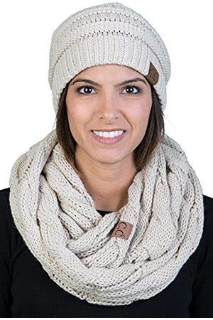 Funky Junque Damen Infinity Schal und Slouchy Strickmütze Passendes Winter-Set - - Einheitsgröße