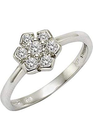 Zeeme Silber Damen Ring 925/- Sterling Silber Glänzend Zirkonia 358271251