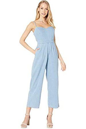 ASTR the label Damen Edie Sleeveless Tapered Crop Denim Jumpsuit Overall