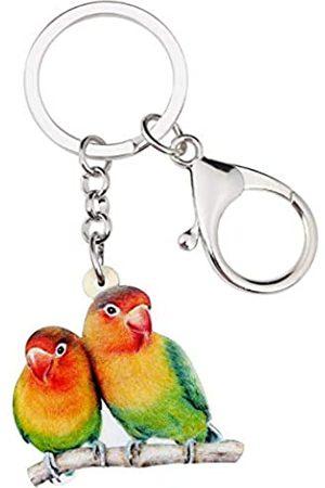 WEVENI JEWELRY Weveni Schlüsselanhänger aus Acryl, Motiv: Afrika, Papagei, Vogel, Schlüsselanhänger für Frauen und Mädchen, für Tasche