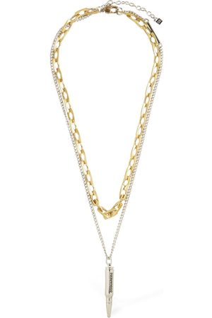 Dsquared2 Talisman Double Two Tone Chain Necklace