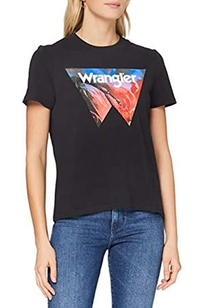 Wrangler Womens HIGH Rib Regular Tee T-Shirt, Black
