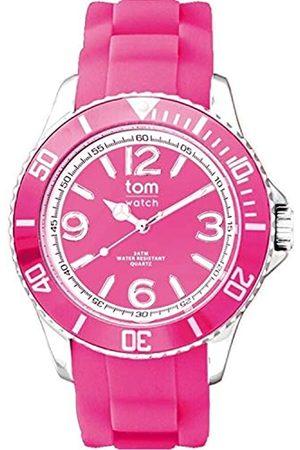 tom watch Unisex Erwachsene Analog Quarz Uhr mit Gummi Armband WA00129