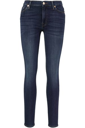 7 for all Mankind Slim Fit Jeans 'Slim Illusion Luxe Starlight' Dunkelblau
