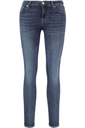 7 for all Mankind Jeans 'The Skinny Crop' Mittelblau
