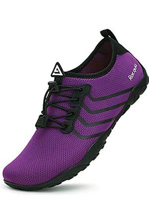 Racqua Swim Shoes Quick Dry Barefoot Water Aqua Sport Beach Surf Pool Diving for Men Women Purple 12