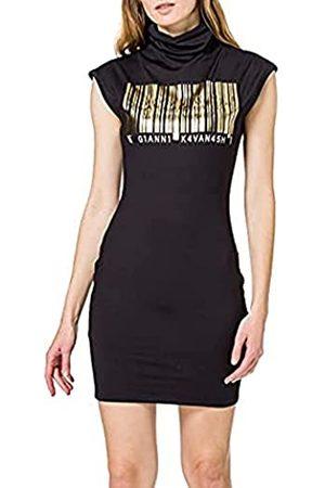 Gianni Kavanagh Damen Freizeitkleider - Damen Black Barcode Turtleneck Dress Freizeitkleid
