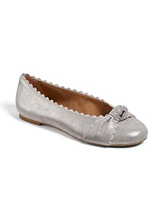 Jack Rogers Holly Leather Flat, Silver