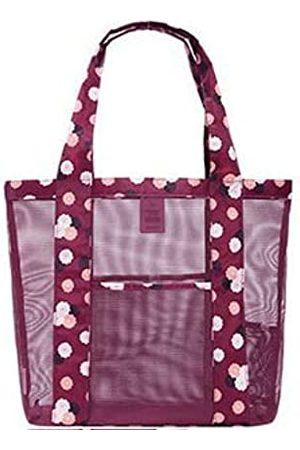 RUIJIA Damen Handtaschen - Netztasche für Bank, Tragetasche, (weinrot)