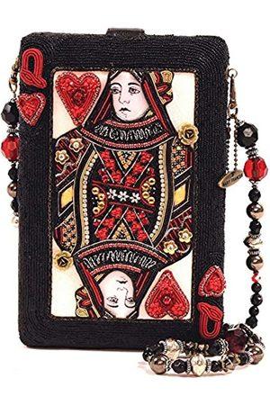 MARY FRANCES Lucky Lady Las Vegas Queen of Hearts Handtasche mit Schmucksteinen