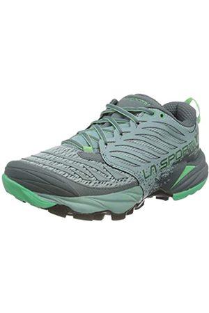 La Sportiva Damen Akasha Woman Traillaufschuhe, Mehrfarbig (Stone Blue Jade Green 000)