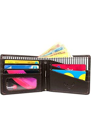 Aanamika Lederbuch MW-1805 (Jack)   Herren Geldbörse   4 Kreditkartenfächer   1 Sichtfenster Tasche   2 Einschubfächer   2 Bargeldschichten   2 Mobile SIM-Fächer   Schokobraun Rindsleder Echtleder   Geldklammer remo