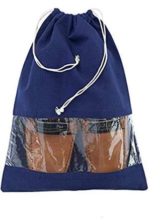Craftbot Schuhschutzbeutel, Reisezubehör, atmungsaktive Baumwolle, 2 Stück, (navy)