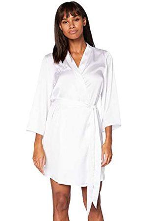 IRIS & LILLY Damen Kimono-Morgenmantel aus Baumwolle, (Weiße Braut), M