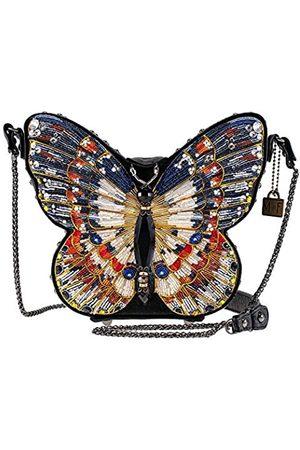 MARY FRANCES In Flight Handtasche mit Perlen und Schmetterling-Motiv