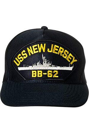 Artisan Owl United States Navy USS New Jersey BB-62 Iowa-Klasse Battleship Emblem Patch Hat Navy Blue Baseball Cap
