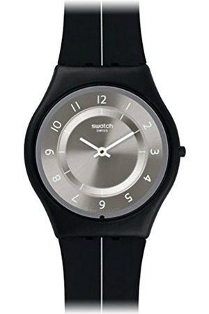 Swatch Quarzuhr Unisex My Silver Black 34 mm