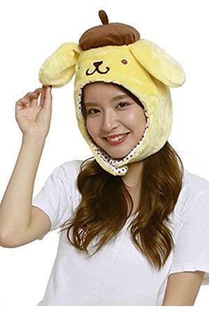 SAZAC Sanrio Pompompurin (Pom Pom Purin) flauschige Beanie Cap weich warm Winter Kopfbedeckung
