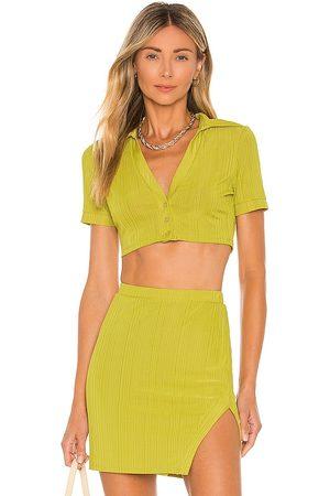 Camila Coelho Bennie Crop Shirt in . Size XXS, XS, S, M, XL.