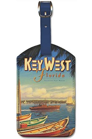 Pacifica Island Art Leatherette Luggage Baggage Tag - Key West Florida by Erickson