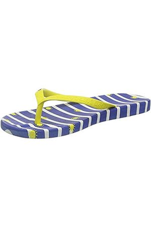 Joules Damen Flip Flops Zehentrenner, (Blue Stripe Blue Stripe)