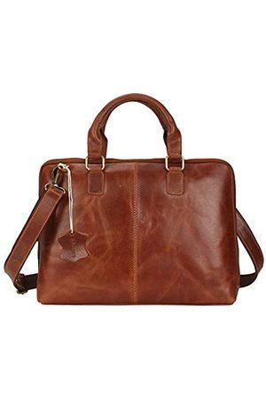 Pitaara Laptoptasche aus echtem Leder für Damen.
