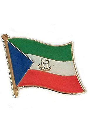 OSdream KleineAnstecknadelnMotiv:ÄquatorialguineaNationalflaggeinternationaleReiseemailliertMetallSouvenirfürHutKleidungRucksack