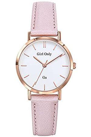 GO Girl Only Damen Analog Quarz Uhr mit Leder Armband 699134