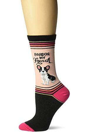 Hot Sox Damen Play on Words Neuheit Casual Crew Socken Gr. Medium