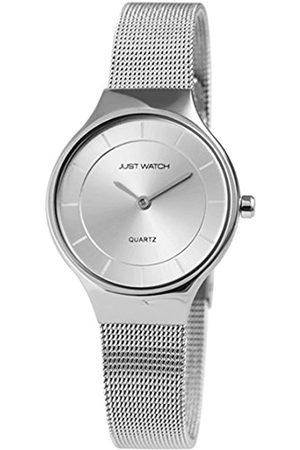 Just Watches Damen Analog Quarz Uhr mit Edelstahl Armband JW10004-001