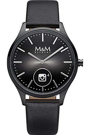 M&M UnisexErwachseneAnalog-DigitalQuarzUhrmitLederArmbandM12000-485