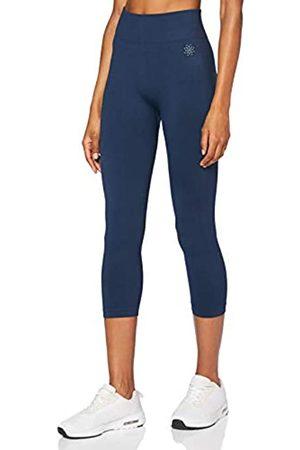 AURIQUE Amazon-Marke: Damen Nahtlose und verkürzte Lauf-Leggings, (Dress Blue), 40