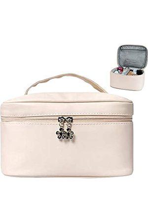 Eazosyku Niedliche Make-up-Tasche, tragbare Reise-Make-up-Tasche, multifunktionale Kosmetiktasche für Toilettenartikel/Make-up-Pinsel/Schmuck/Kosmetik/elektronisches Zubehör