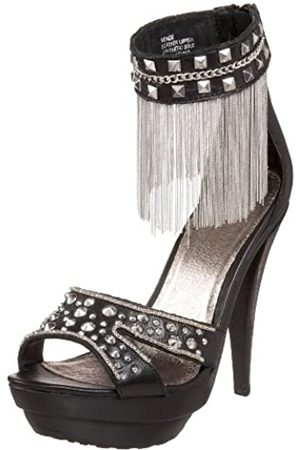 ZIGIny Damen Kenzie Sandalen, (schwarzes Leder)