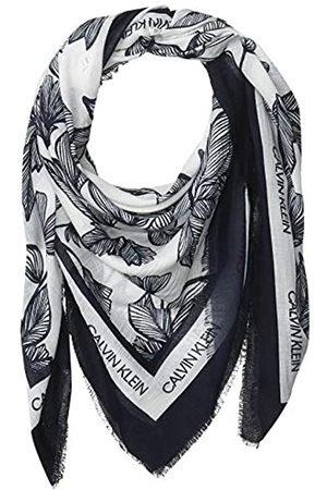 Calvin Klein Damen Toile Print Square Modal and Silk Scarf Pashminaschal