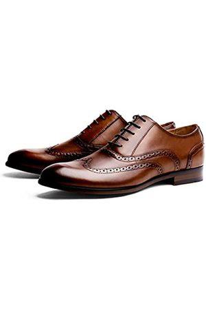 R.PRINCE Oxford Brogue Schnürschuh Schwarz Arbeit Büro Schuh Leder Hochzeit Kleid Schuhe für Herren