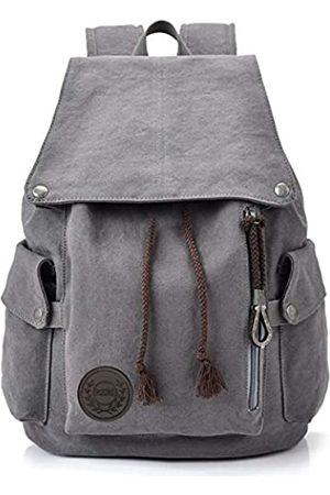 FH Home • F Canvas Rucksack Vintage Rucksack Daypack für Herren Damen Laptop Schule Reise Rucksack