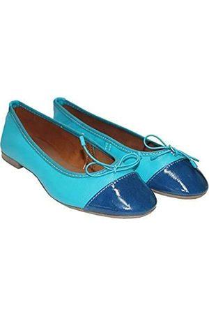 TWISTER Ladies Pumps Made of Leather Ballerina Ballet Flat Stylish & Comfortable … (Taurus Blue