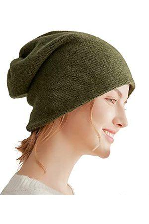 WaySoft Damen Hüte - Aspen doppellagige 100% Kaschmir Beanie Hochleistungs-Kaschmir-Ski-Mütze - Gr�n - Einheitsgröße