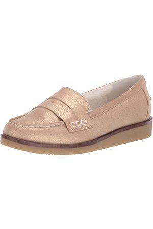 Aerosoles Damen Loafer Flat Flacher Slipper, metallic-goldfarben