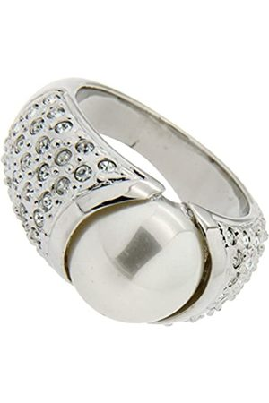 Jean Pierre Damen-Ring Messing rhodiniert Perle Creme Glas Gr. 63 20.1 - HEJR1739-20